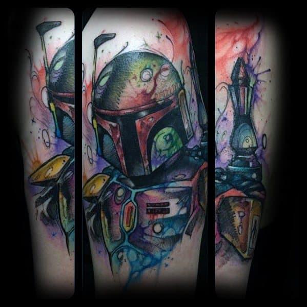 Star Wars Mandalorian Male Tattoos