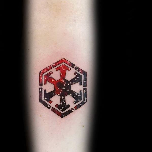 Star Wars Outer Space Stars Sith Symbol Design Tattoo Ideas For Men
