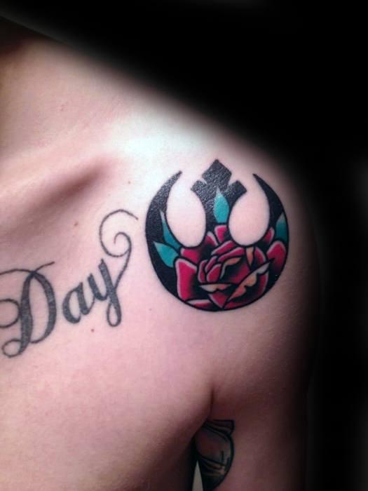Star Wars Rebel Alliance Male Tattoos On Shoulder