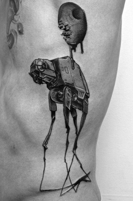 Star Wars Themed Salvador Dali Elephant Rib Cage Tattoo Ideas For Males