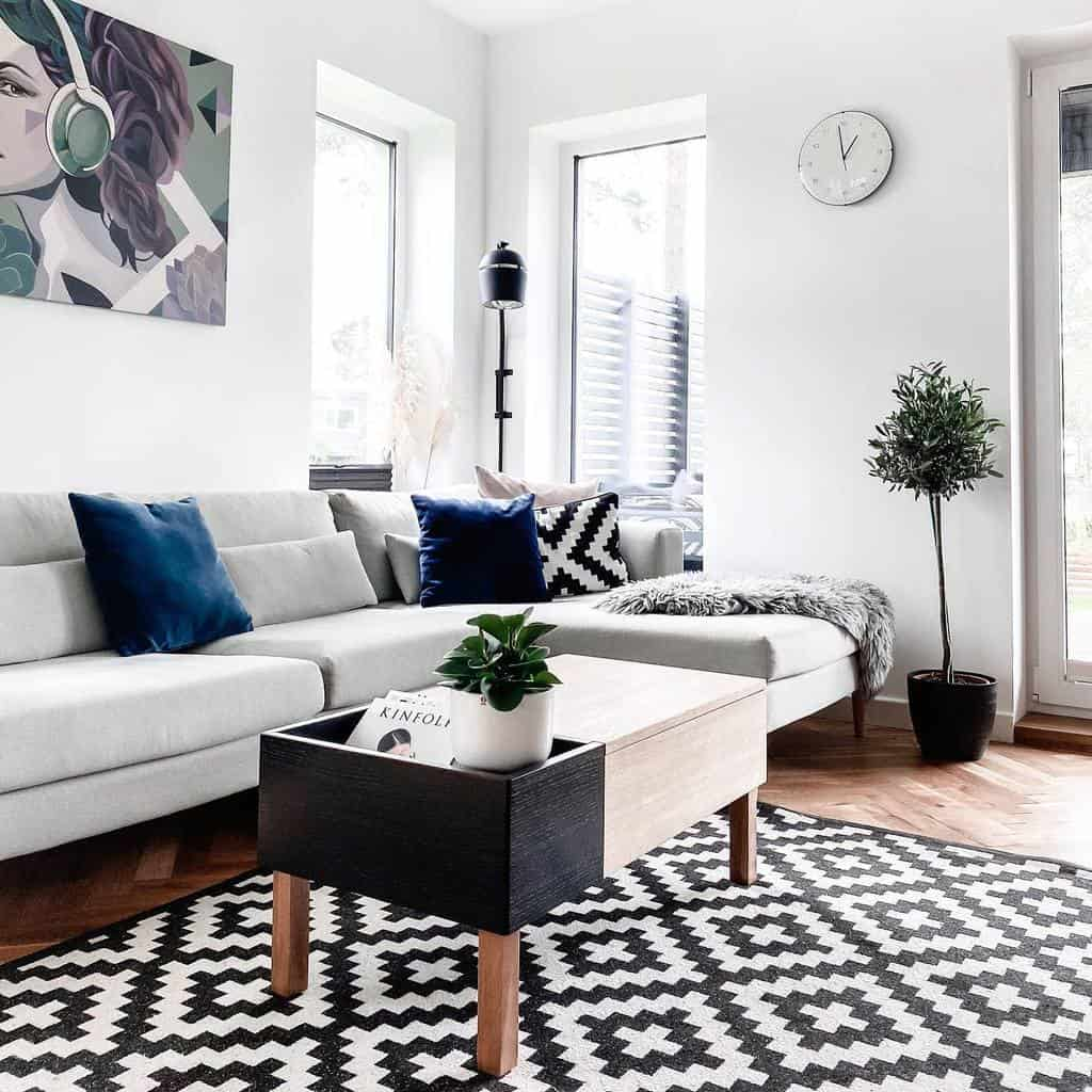 Statement Decor Pieces Minimalist Living Room Trinaika