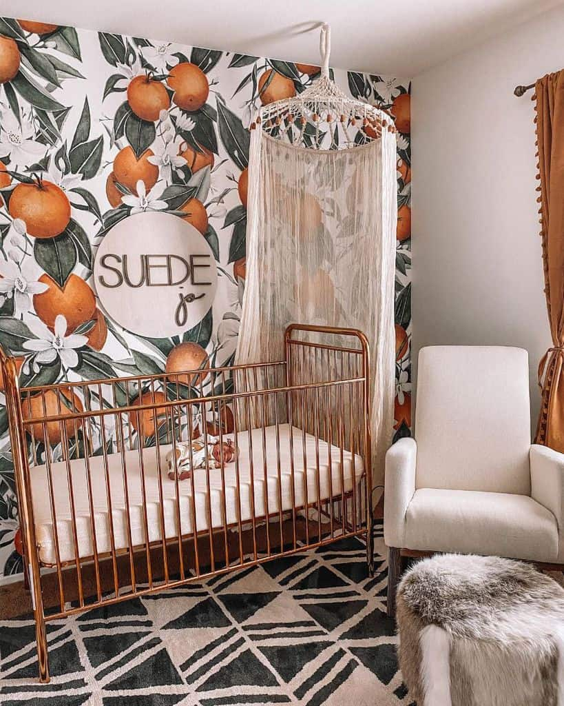 Statement Wall Baby Room Ideas Life.of.a.sister