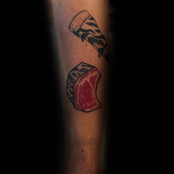 Steak Tattoo Designs For Gentlemen