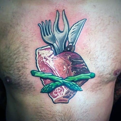 Steak Tattoos For Gentlemen