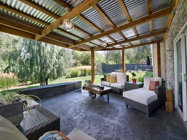 Steel And Metal Patio Roof Ideas
