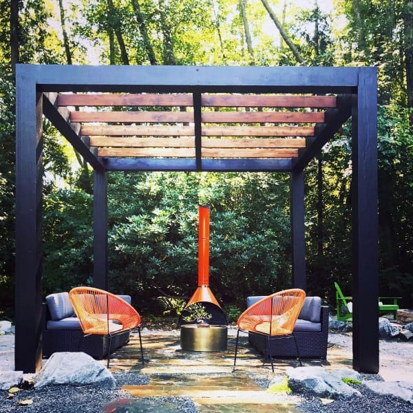Steel And Wood Modern Pergola Ideas