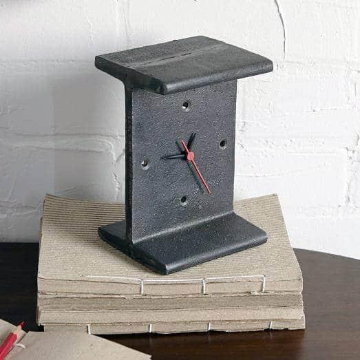 Steel Beam Clock Man Cave Decor