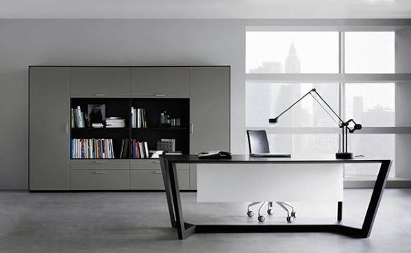 Steel Desk Modern Look Small Home Office Ideas
