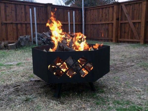 Top 60 Best Metal Fire Pit Ideas Steel Backyard Designs