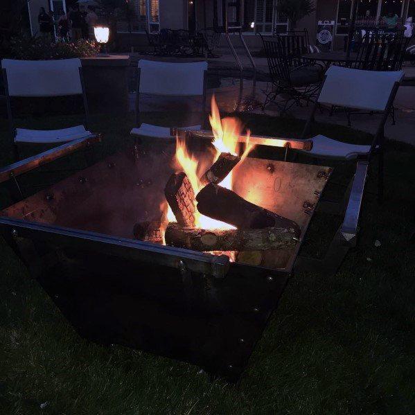 Steel Fire Pits Backyard Ideas