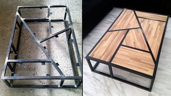 Steel Frame And Wood Board Cheap Man Cave Design Ideas