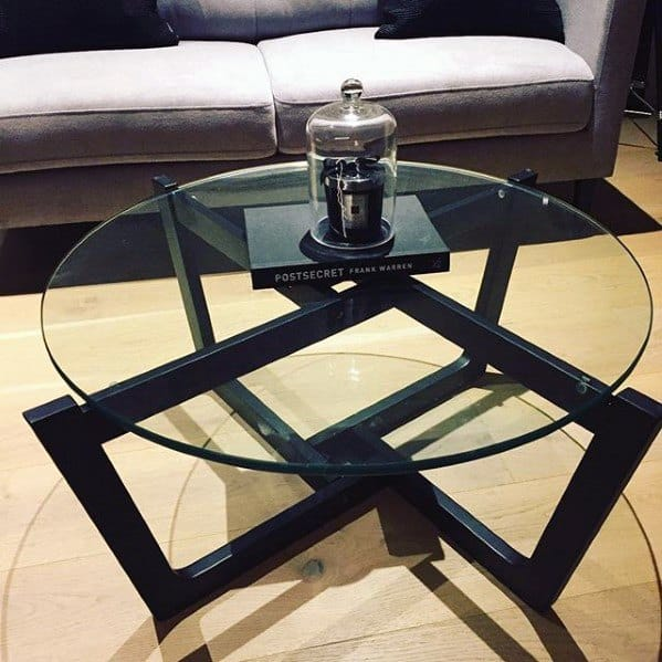 Steel Frame Unique Bachelor Pad Furniture Coffee Table