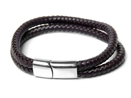 Steel Leather Cool Men's Bracelets