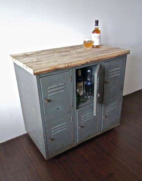 Steel Locker Creative Mini Bar Interior Ideas
