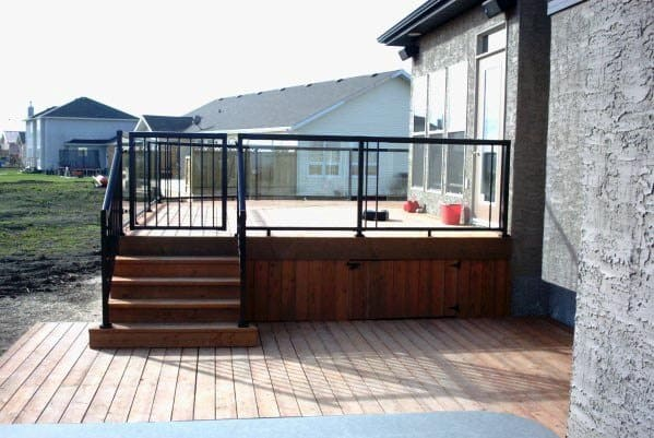 Steel Painted Black Design Ideas Deck Gate