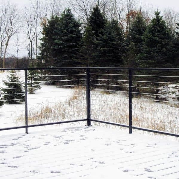 Steel Wire Home Backyard Metal Deck Railing