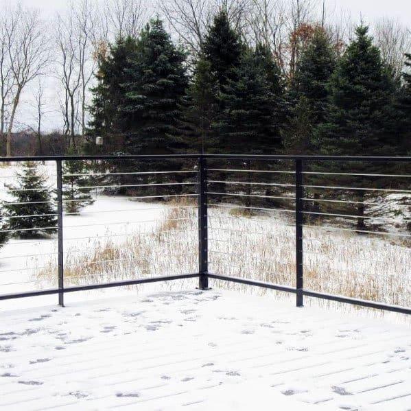 Steel Wire Home Backyard Metal Deck Railing
