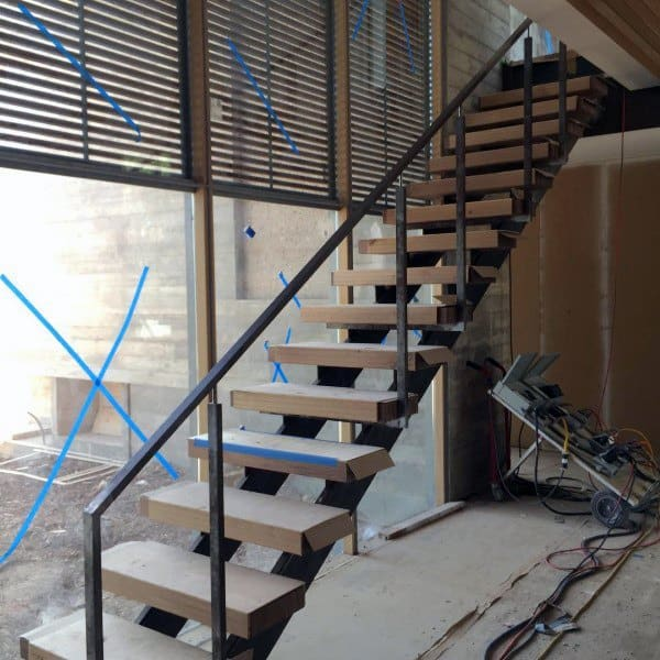 Steel Wood Steps Modern Staircase Ideas