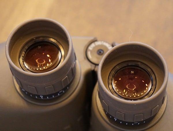 Steiner Military Marine 10x 50 Binoculars Focusing Lens Detail
