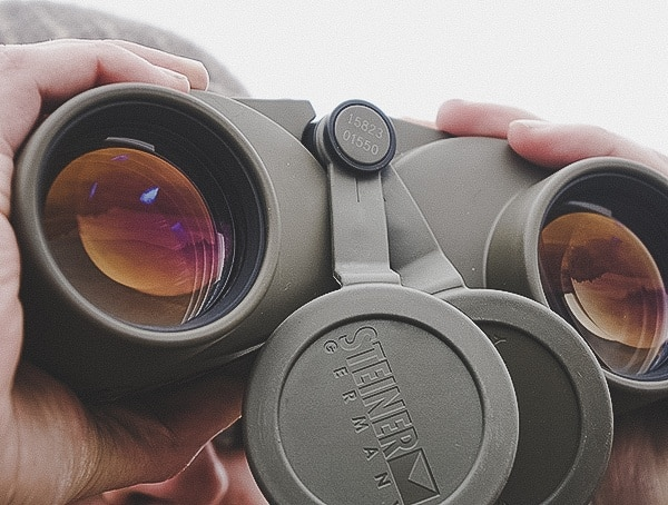 Steiner Military Marine 10x 50 Binoculars Review With Lens Cap Removed