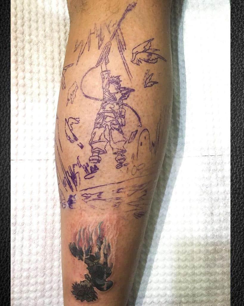 Stencil Guido Kingdom Hearts Tattoo