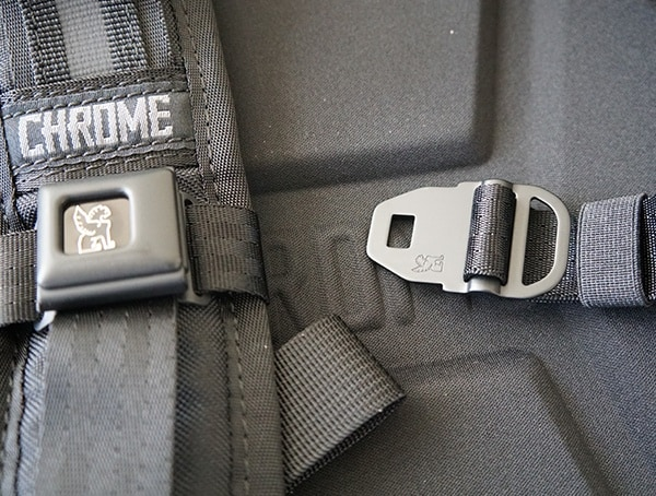 Sternum Strap Seatbelt Buckle Design Chrome Industries Barrage Cargo Backpack