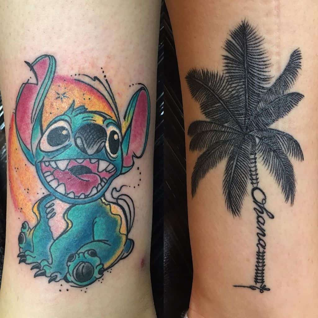 Stitch And Symbol Ohana Tattoo