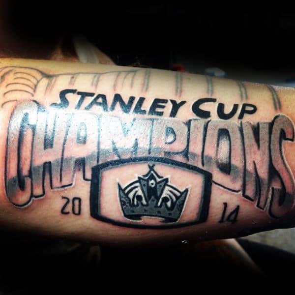 Stnaley Cup Champions Hockeymens Forearm Tattoo