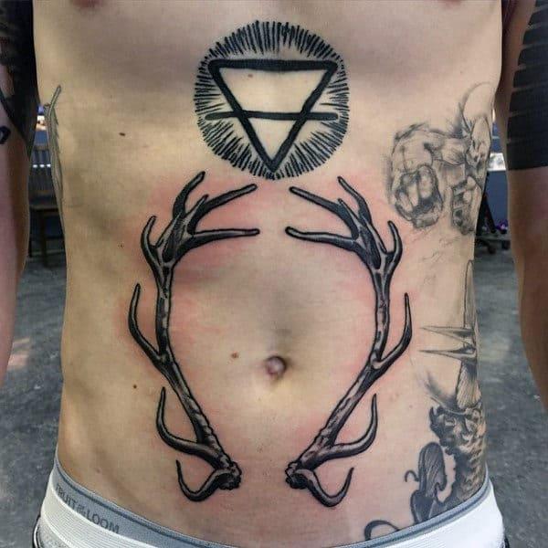 Stomach Guys Antler Tattoos