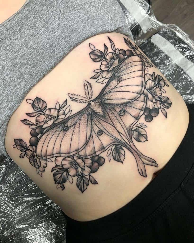Stomach Luna Moth Tattoo Megloveschoc