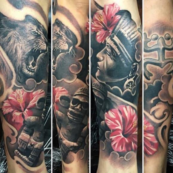 Stone 3d Mens Taino Tattoos On Forearm