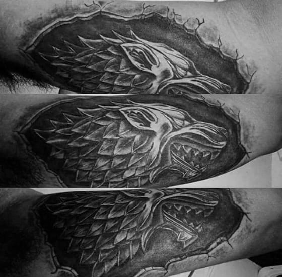 Stone 3d Outer Forearm Game Of Thrones Guys Tattoos