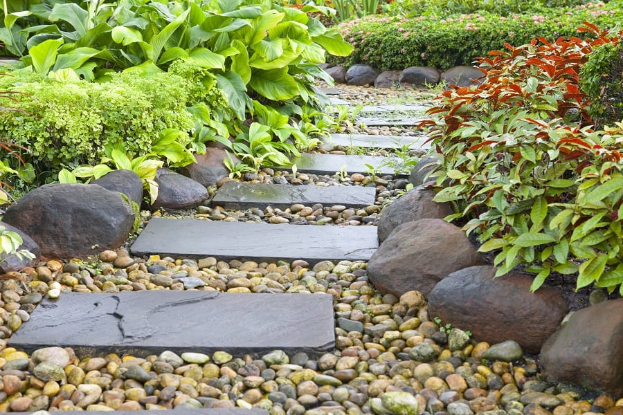 Grass Diamond Pattern Concrete Walkways