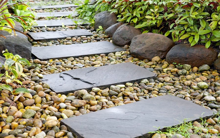 Grey Slate Tiles Walkway Ideas