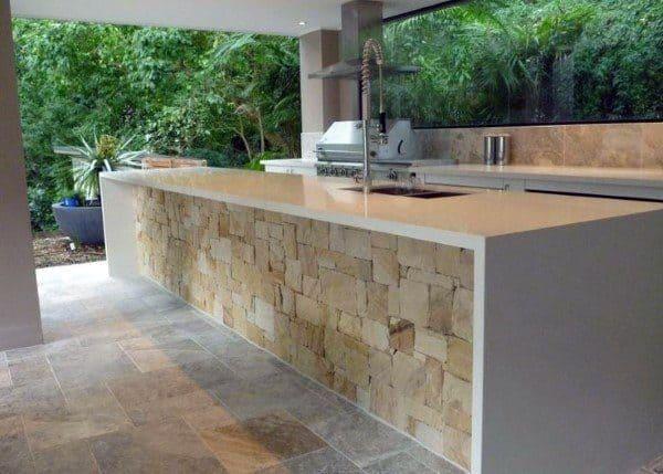 Stone And Quartz Outdoor Kitchen Ideas