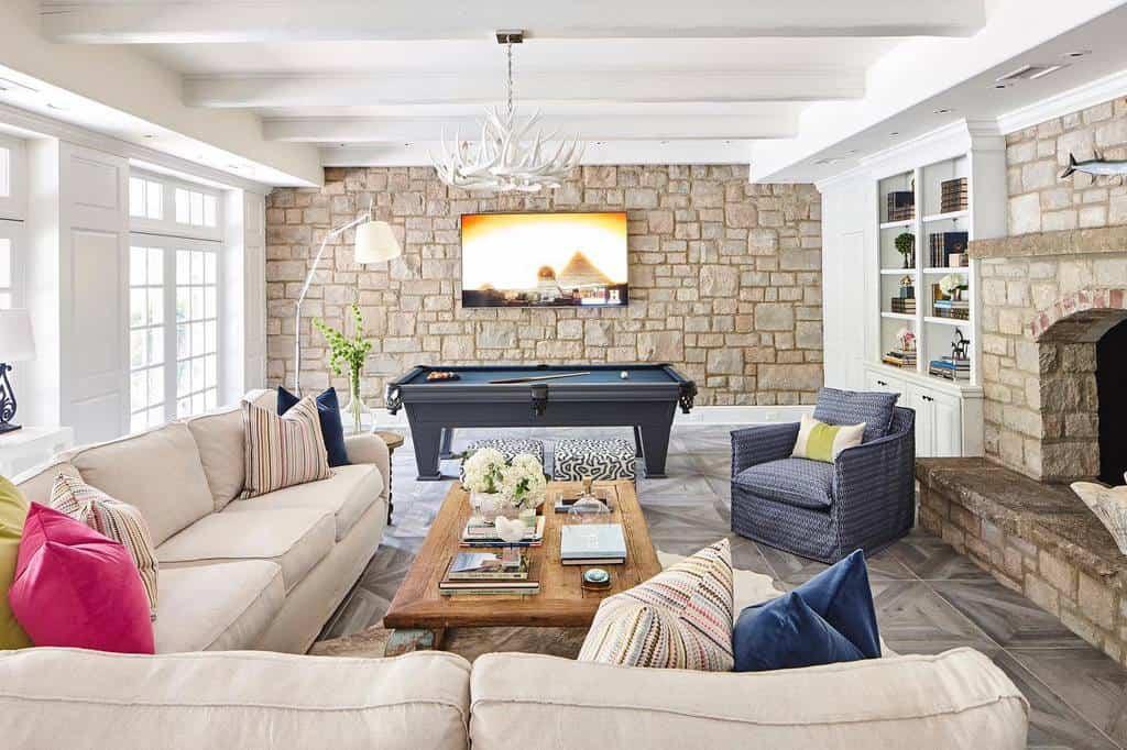 stone basement wall ideas melbeaninteriors