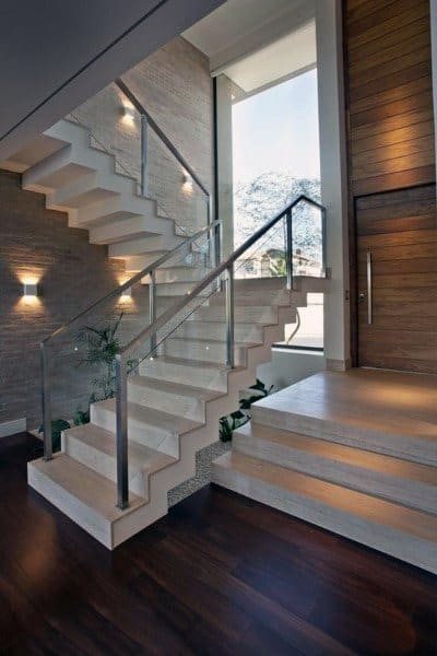 Stone Concrete Interior Staircase Design Ideas