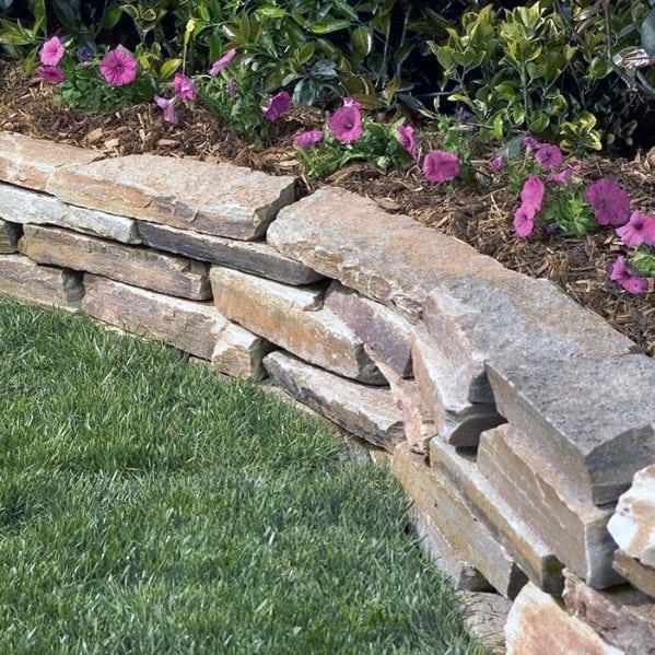 Stone Edging Cool Exterior Ideas