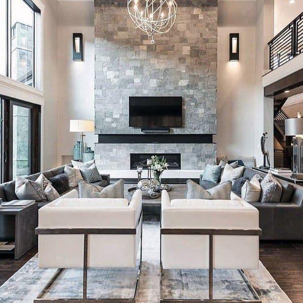 Stone Fireplace Designs Contemporary