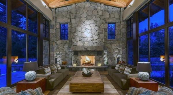 Stone Fireplace Designs Rustic