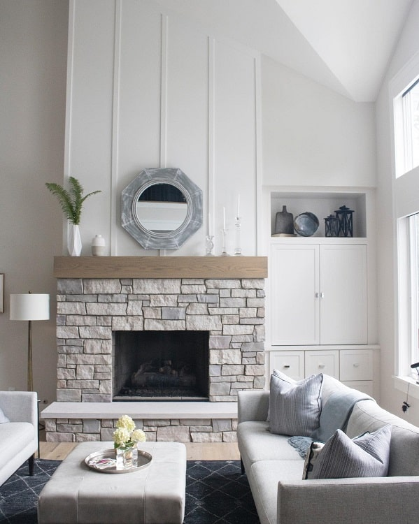 Stone Fireplace Surround Wood Floors Straightlinedesignkitchens