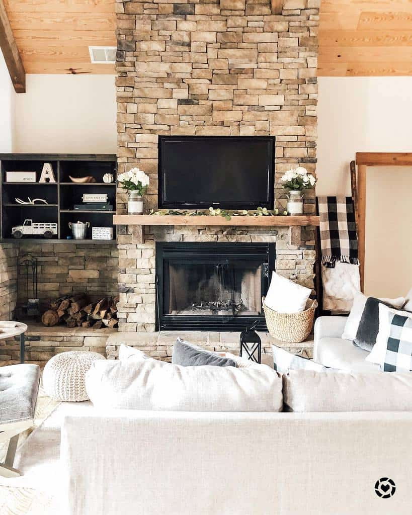 stone fireplace wall ideas jenniferkadams