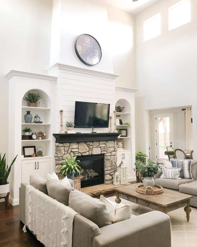 stone fireplace wall ideas lifeonrusticdr
