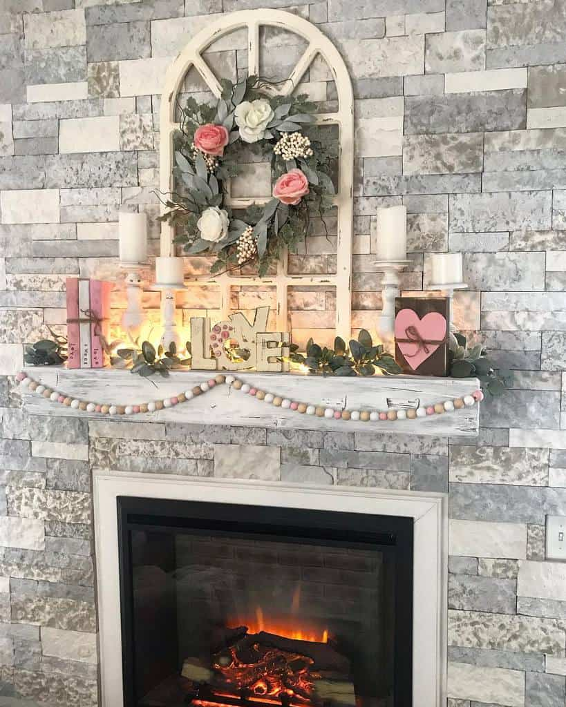stone fireplace wall ideas shiplapshanty
