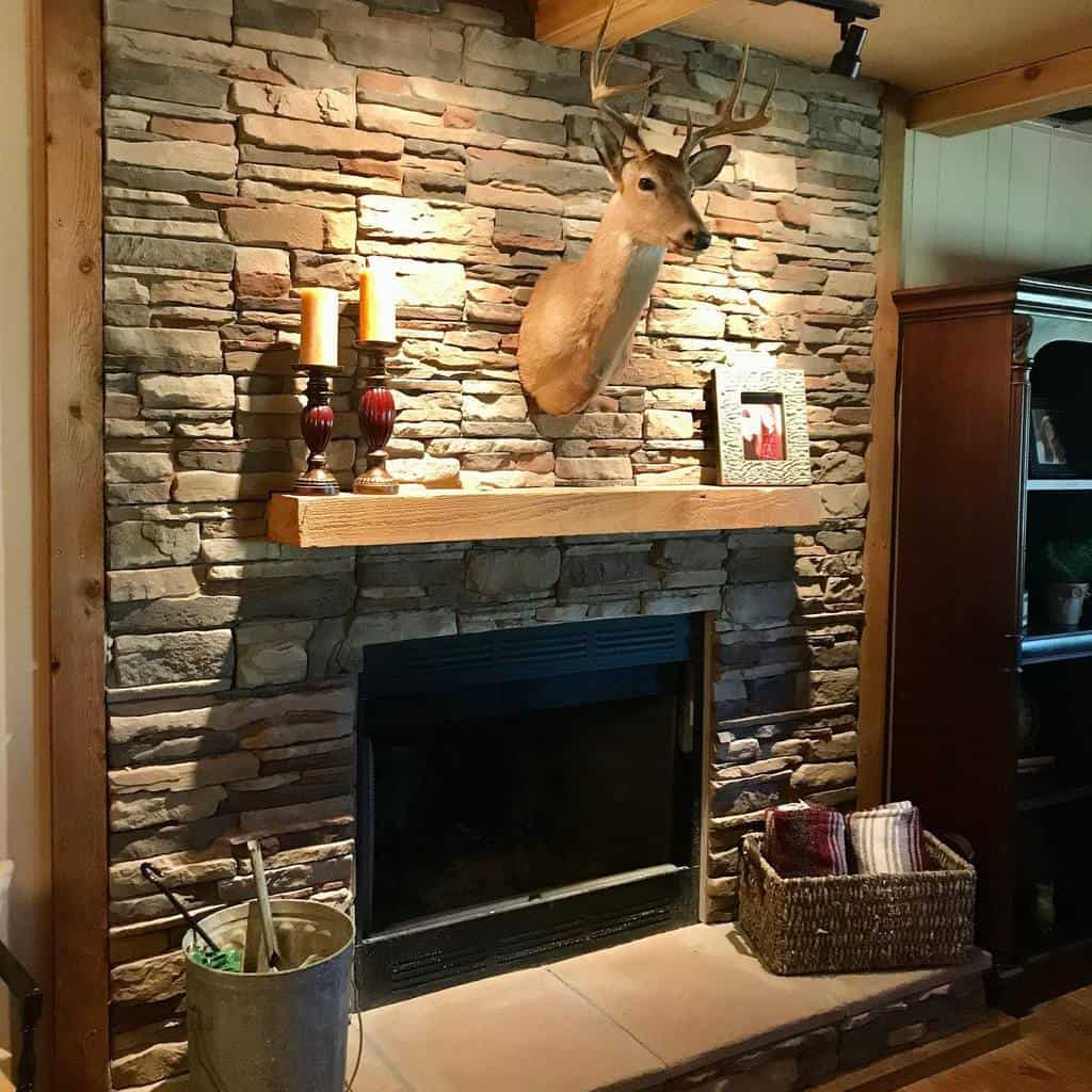 stone fireplace wall ideas stonecreekcabin