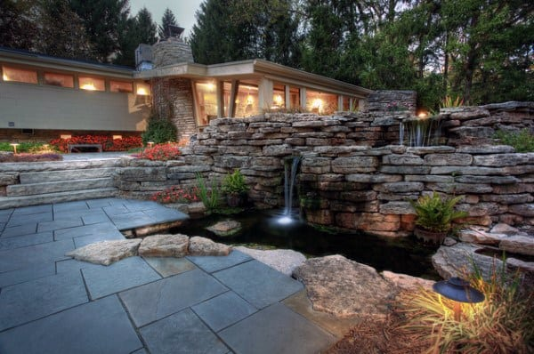 Stone Fountain Pond Ideas