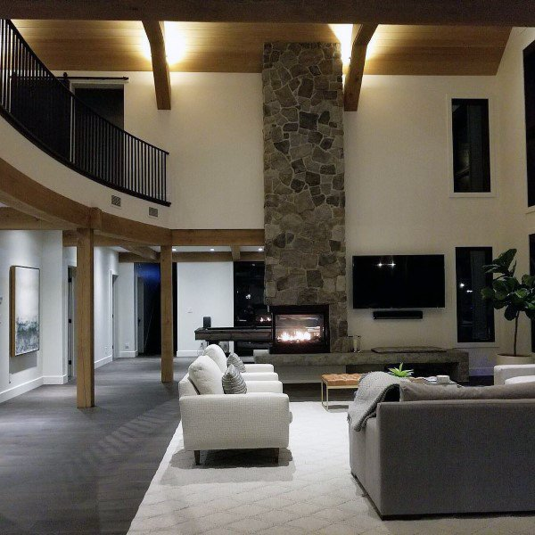 Stone Gas Fireplace Design Ideas