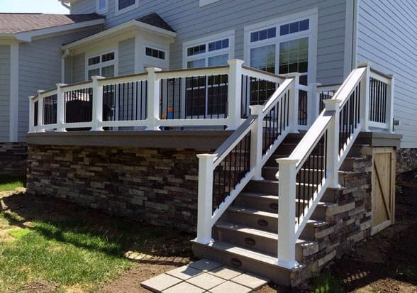 Stone Home Backyard Designs Deck Skirting