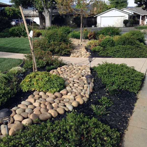 Stone Ideas For Home Front Yard Landscaping