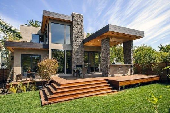 Stone Modern Deck Roof